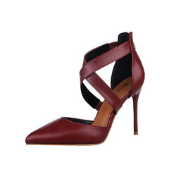 Hollo Out Pointed Toe High Heel Strappy Bandage Sexy European Style Pumps