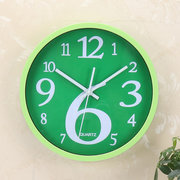 Round Home Wall ساعةحائط Creative Fluorescent Solid اللون Wall ساعةحائط Korean Home رقمي Wall ساعةحائط