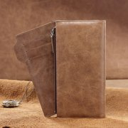 Genuine Leather Large Capacity Long Wallet Casual Multifunctional Wallet For Men