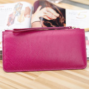 Women Bowknot Card Holder Genuine Leather Wallet Purse