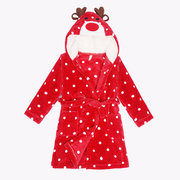 Cute Children Soft Flannel Cartoon Animal Bathrobe Baby Pajamas