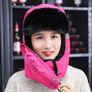 Mens Women Warm Waterproof Skiing Windproof Reflective Thickening Full-protection Mask Face Neck Hat