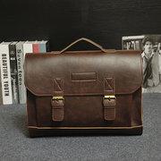 Bolsa de couro vintage PU Classic bolsa de homens