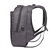 Canvas Large Capacity USB Charging Port Anti-theft 17 Inch Laptop Bag Backpack For Men