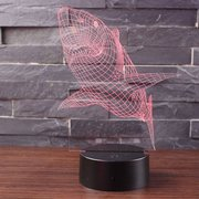 Shark 7 Color 3D LED Touch Control Lamp Birthday Gifts Night Light Bedroom  Home Decor