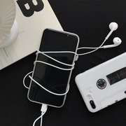 Women Vintage White Tape TPU Soft Light Back Cover iPhone Phone Case