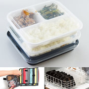 10 Meal Prep Disposable Box Lunch BPA Free Boxes Plastic Lunch Boxes Three Grid