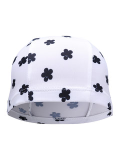 Long Hair Printed Retro Polka Dot Stripe Multi Color Swimming Caps For Adult