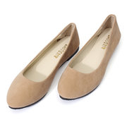 Pure Color Round Toe Slip On Flat Ballet Shoes