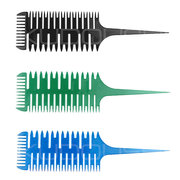 Salon Barber Dye Hair Comb With Fish Tail Bone Shape Comb Dyeing Tool