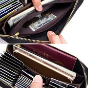 RFID Antimagnetic Leather Multi-slots 36 Card Slots Card Holder Long Wallet Purse For Women