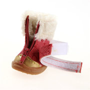 Winter Snow Booties Pet Puppy Waterproof Soft PU Leather Cotton Anti Slip Shoes For Small Dog