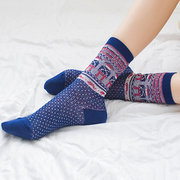 Mujer Retro Folk-custom Cotton Middle Tube calcetines Casual Cálido Divertido calcetines Montón Pila calcetines