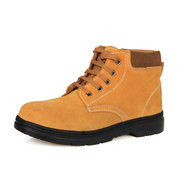 Yellow Suede Non Slip Knöchel Lace Up Outdoor High Top Stiefel