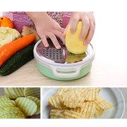 Multifunctional Fruit and Vegetable Shredded Bowl Stainless Steel Slicer