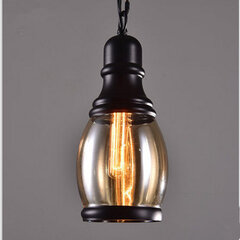 Retro Glass Pendant Lamp Vintage Industrial Lighting Fixture Bar Loft