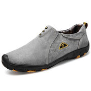 Herren Schweinehaut Leder Wearable Slip On Outdoor Casual Schuhe