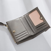 Stylish Small Short Wallet PU Leather Card Holder Coin Bag For Women