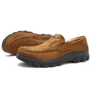 Men Old Peking Style Fabric Flat Slip-Ons Casual Shoes