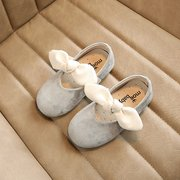 Girls Bowknot Decor Pure Color Lovely Flat Shoes