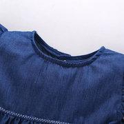 2шт оборками джинсовой ткани для девочек короткий комплект для 0-24 м