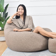80x90cm Linen Bean Bag Chairs Cover Sofas Lounger Sofa Chair Cover Indoor Large Beanbag Gamer Chair