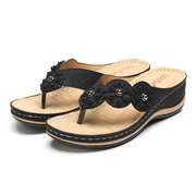 LOSTISY Flower Clip Toe Beach Infradito Casual Pantofole cunei