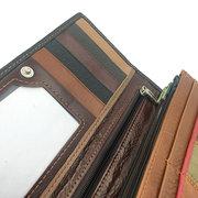 Женское Натуральная Кожа 8 слот для карт памяти большой емкости, пэчворк Кошелек телефон Сумка