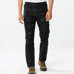 Camuflagem masculina Calças desportivas ao ar livre Soft Shell Quente molhado Forro calças térmicas