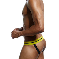 Sexy Sport Jockstrap Back Hole Patch U Convex Breathable Padded Thong Underwear for Men