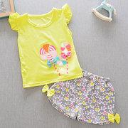 T-shirts manches courtes à manches courtes pour filles mignonnes pour 6-36 mois