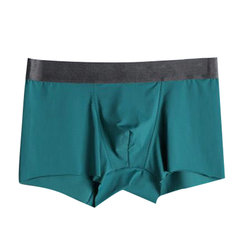 Sexy Semless Solid Color Ice Silk Super Thin Breathable Boxer Underwear for Men