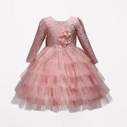 Robes de filles de fleur enfants robes de princesse de dentelle pour 2Y-9Y