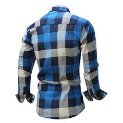 Camicie di design per uomo elegante con stampa Denim Sottile