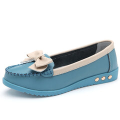 Butterflyknot Color Match Soft Sole Flat Slip On Loafers